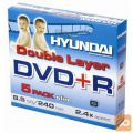 Hyundai DVD+R DL 8,5GB, Double Layer, 2.4x, paket 5 DVDjev