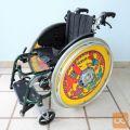 Otroški invalidski voziček Sunrise, z dodatnima zavorama