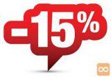 NUDIMO KATERIKOLI ARTIKEL IZ TRGOVINE BING BANG 15% CENEJE