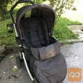PEG PEREGO Book plus voziček black denim+ zimska vreča