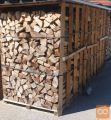 Suha bukova drva, žagana na 33 cm in razklana