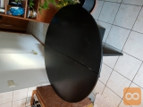 Miza raztegljiva okrogla črna
